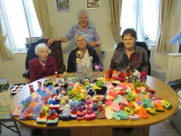 Members of the Dulwich Almshouse Charity's knitting group