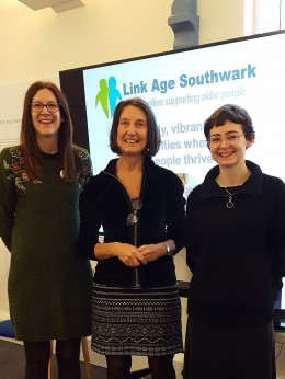 Volunteer Coordinator at LinkAge Southwark Melissa, Chairperson of the Dulwich Almshouse Charity Cat