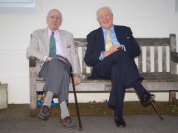 Gerry Bowden (left) with fellow former trustee John Palmer | The Dulwich Almshouse Charity